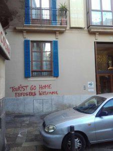 Pintada a un hotel de luxe al barri de Sa Gerreria.