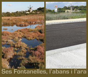 Ses Fontanelles, abans i després d'iniciar-se la urbanització.